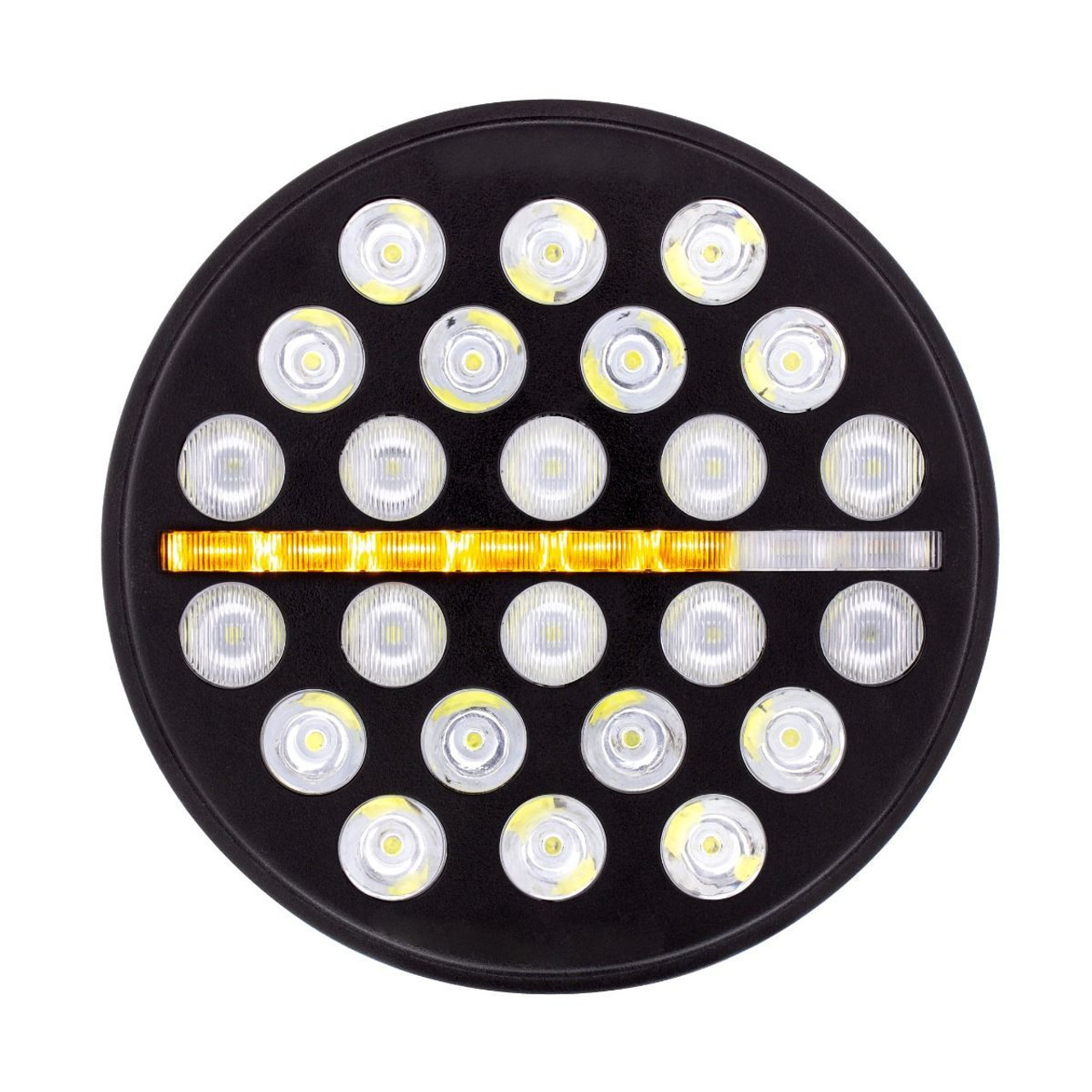 "24 High Power LED 7"" Light w/Dual Color Position Light - Off-Road"