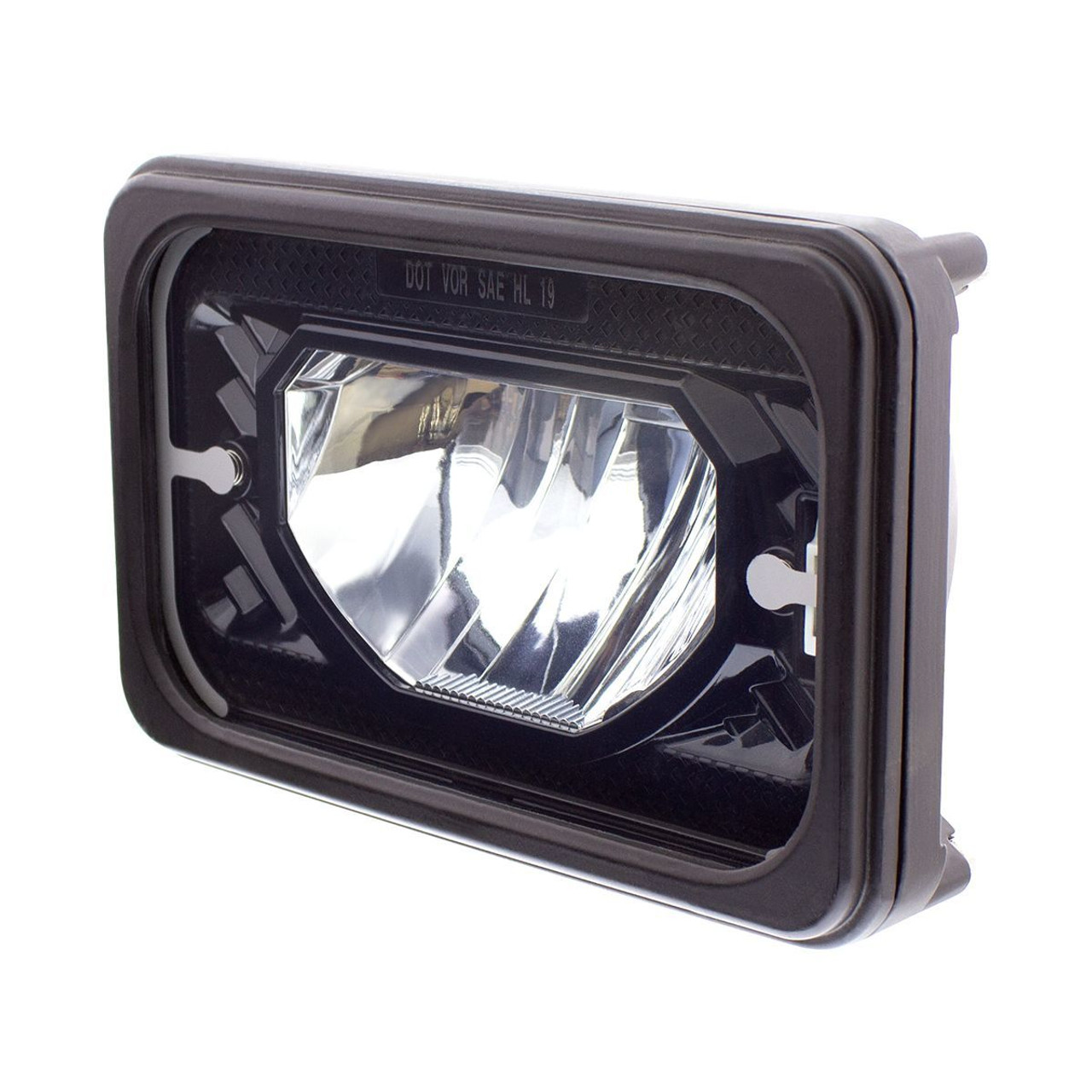 "4"" X 6"" Heated LED Headlight Low Beam, Black, Universal"