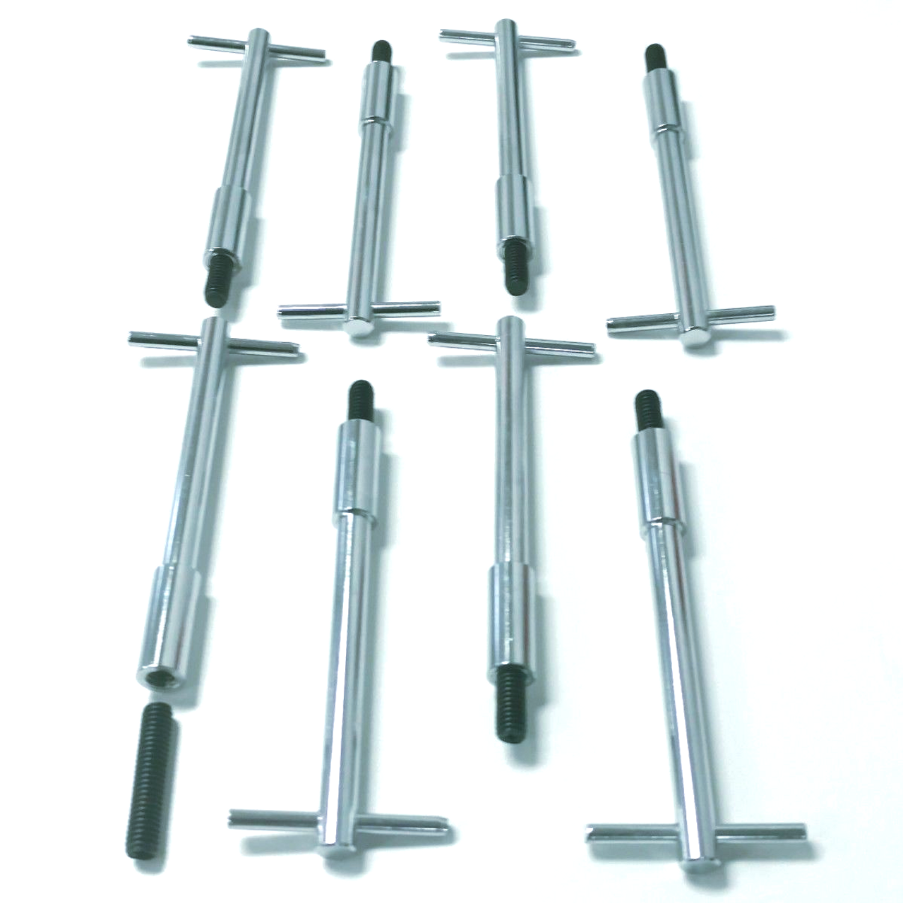 (8) Muscle Car Chrome Steel Valve Cover T-Bar V8 332 352 390 406 427 429-460