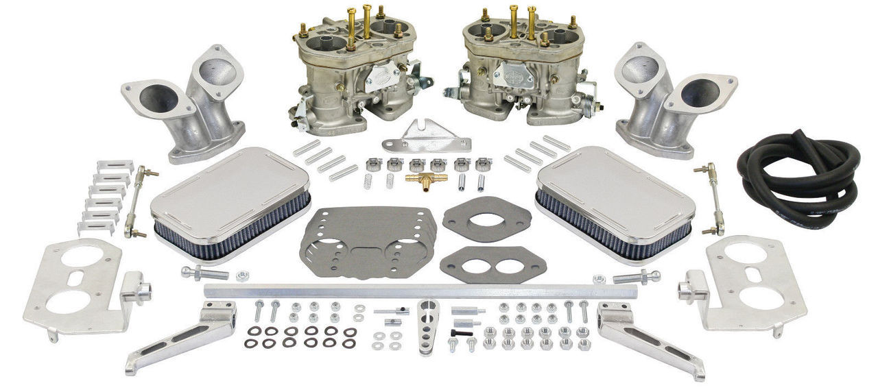 EMPI DUAL 44 HPMX VW TYPE 3 CARB. KITS WITH CHROME AIR CLEANERS 47-7342