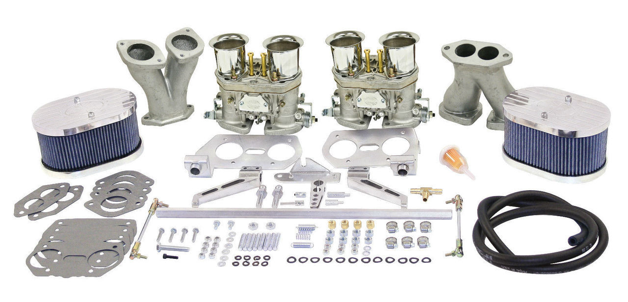 EMPI VW  DELUXE DUAL 44 HPMX TYPE 1 CARB. KITS WITH BILLET AIR CLEANERS 47-9319