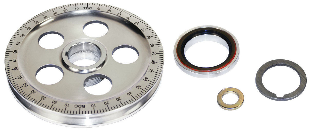 Bolt-In Sand Sealed Crank Pulley Kit, Fits VW Air Cooled Bug Buggy Sand Rail, EMPI 8688