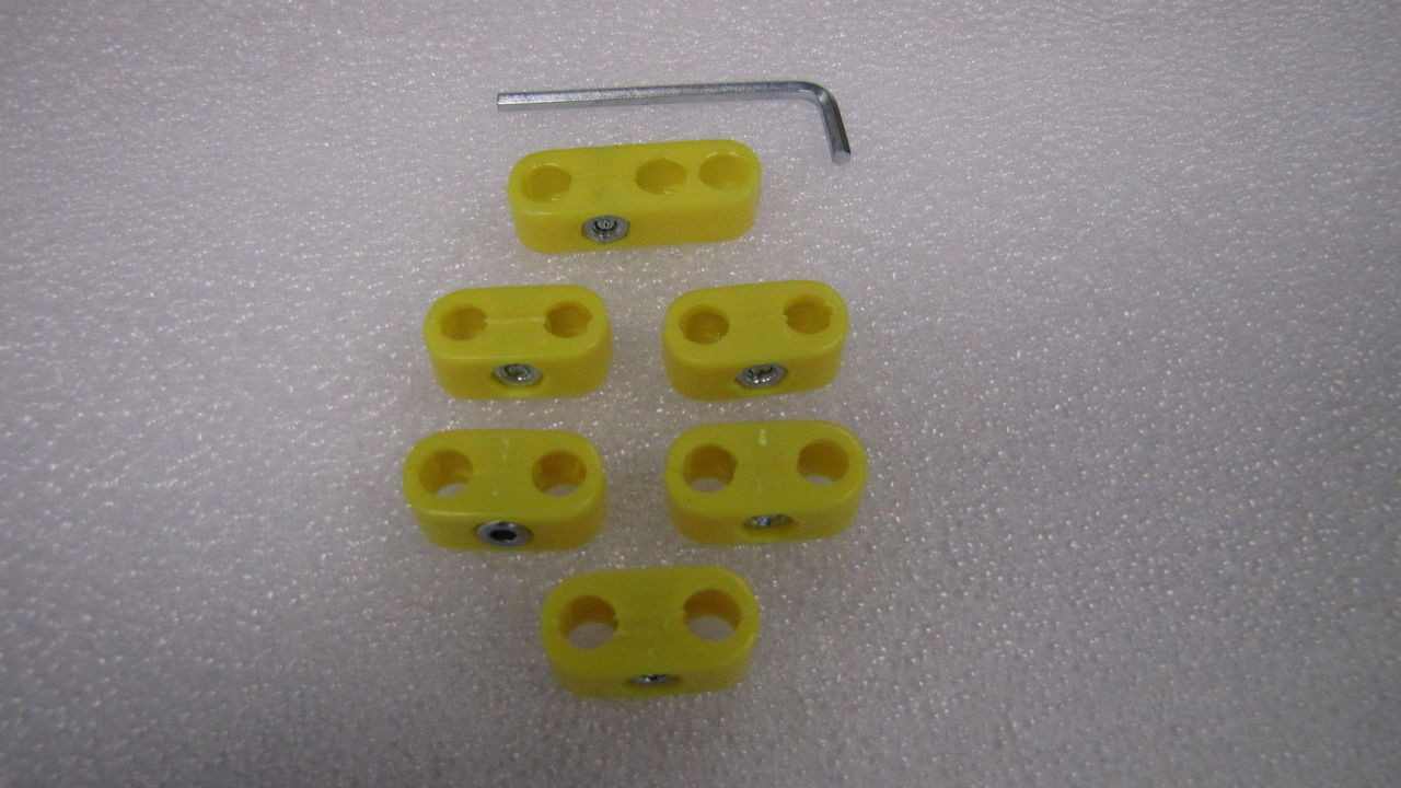 Spark Plug Wire Separators, Yellow, 6 Piece Kit, Compatible with Dune Buggy