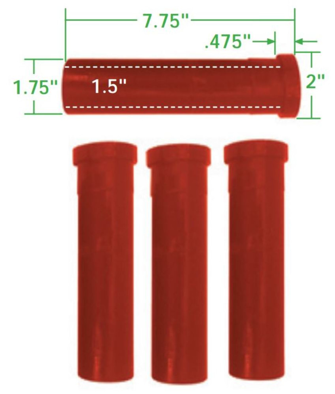 Axle Beam Bushings, 4pc, Urethane, Fits VW Inner & Outer Kink&Link W/Bearings, EMPI 16-5140