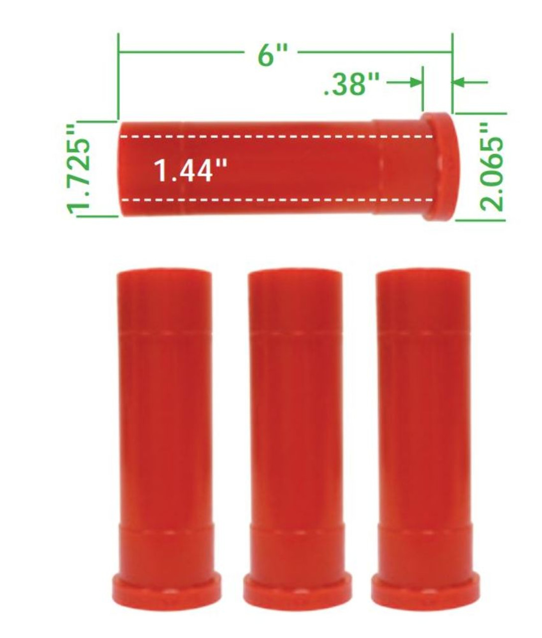 Axle Beam Bushings, 4pc, Urethane, King Pin Style Warrior, Fits VW Off-Road Axle Beams, EMPI 16-5146