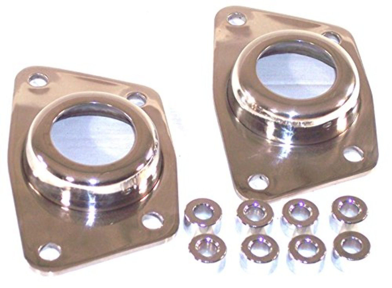 EMPI 17-2697 Stainless Steel IRS Torsion End Plate Caps - Pair VW dune Buggy Bug Baja Ghia