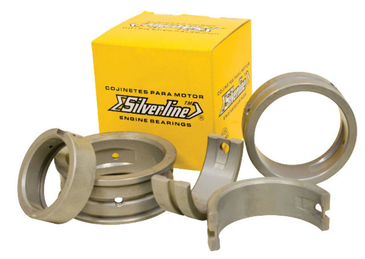Main Bearing Set 1.00/.75mm/1.00mm, Silverline, Fits Air Cooled VW 1200-1600, EMPI 98-1588-S