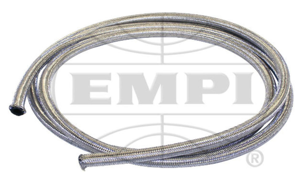 25' Length Braided Stainless Steel Intake/Fuel Line 1/4 I.D, Fits VW Bug Air Cooled