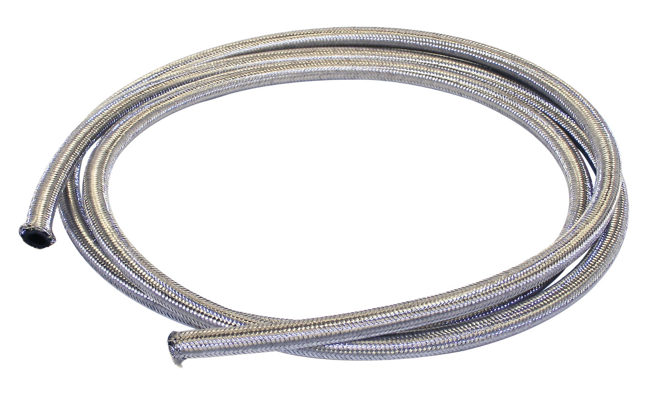 25' Length Braided Stainless Steel Oil/Breather Line 3/8 I.D, Fits VW Bug Air Cooled