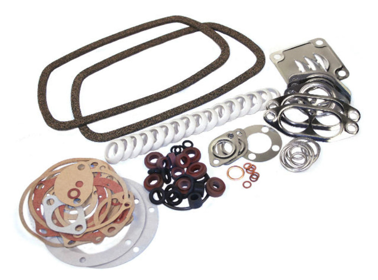Gasket Kit Set, VW 1300cc-1600cc, 1963-1979 T-1-2-3 GHIA