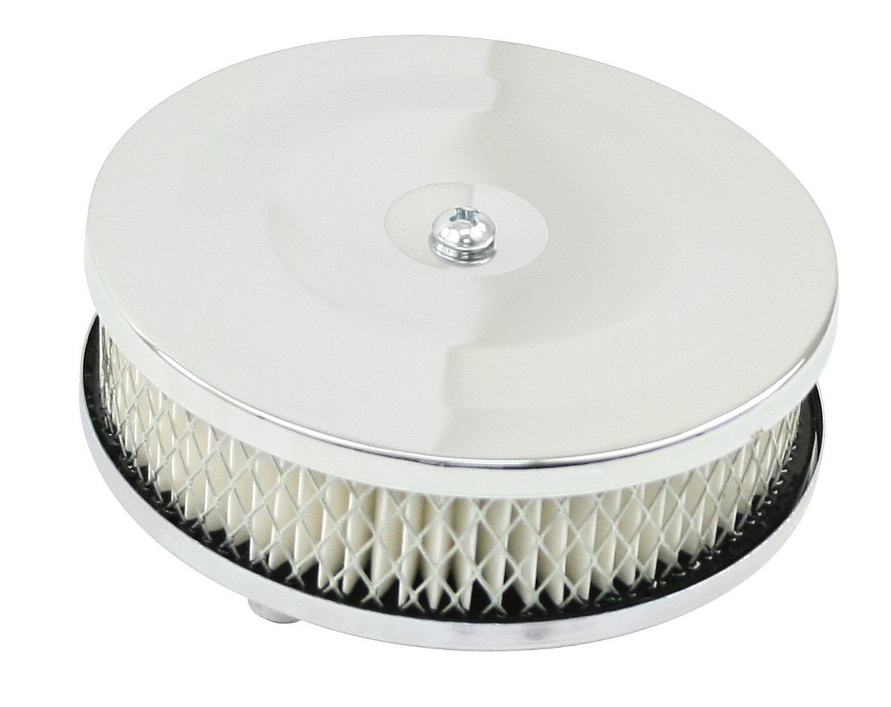"""EMPI VW Bug 5-1/2"""" 2-1/2"""" Tall, Chrome Air Cleaner 2"""" Neck, w/Paper Element 9183"""