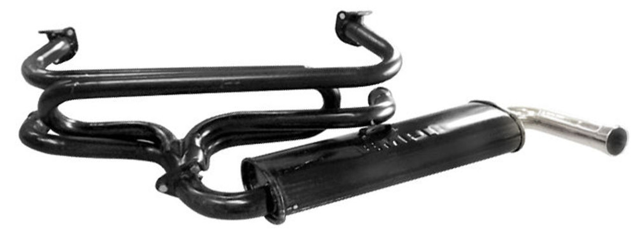 Exhaust System, Single Quiet, Small Flange, Fits VW Type-1 Bug & Ghia 1300-1600, EMPI 3647