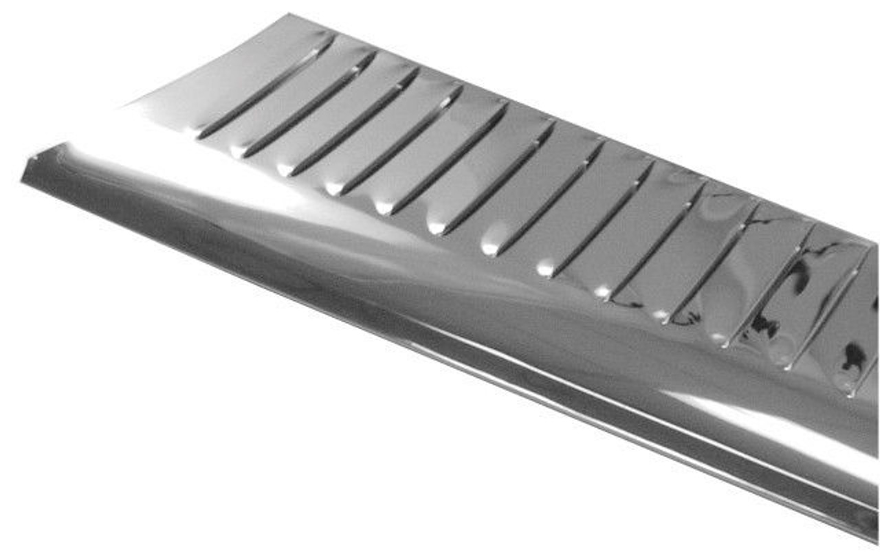 Empi VW, Bug, Super Beetle, Stainless Steel Running Boards, Louvered, Pair, 6820