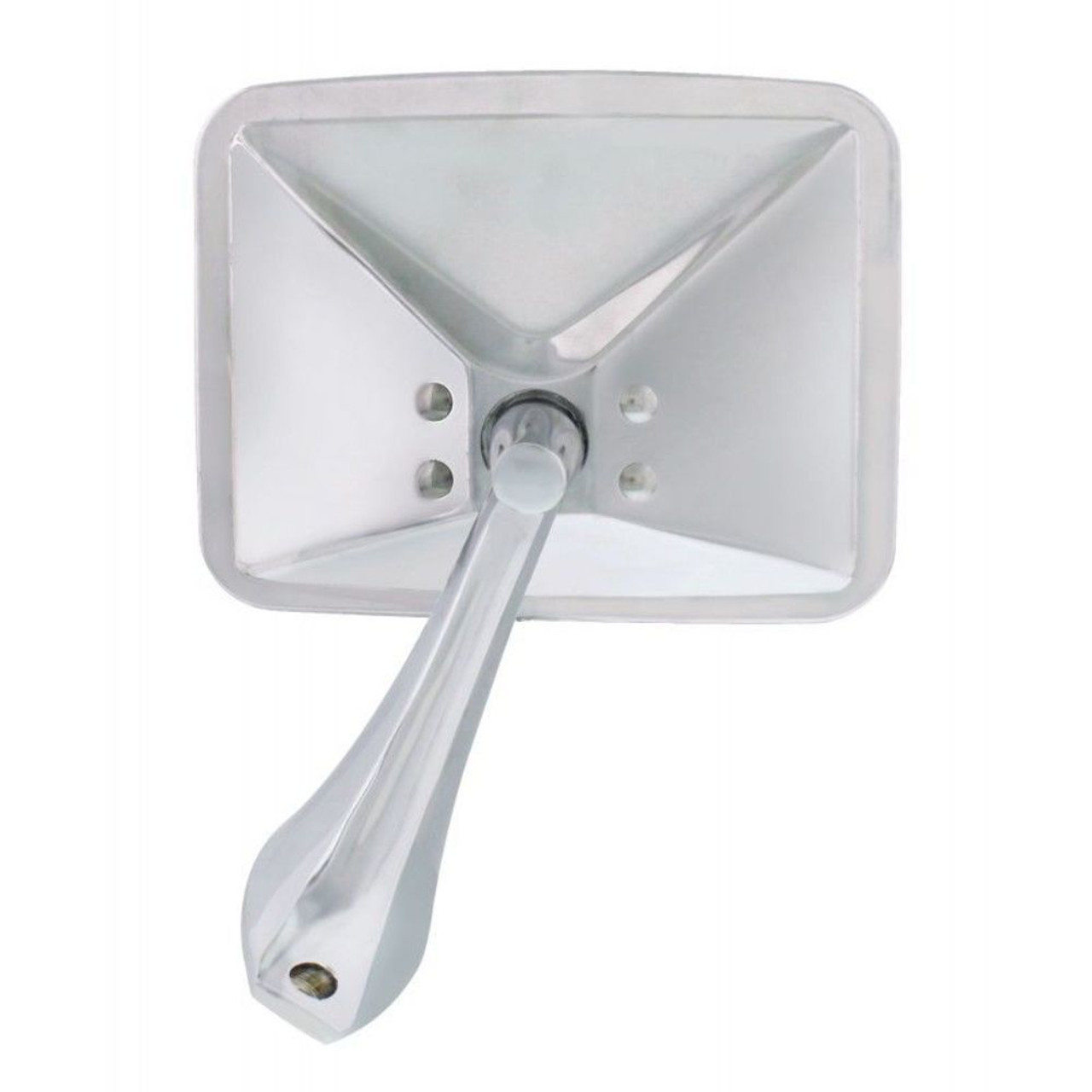 1970-1972 Chevy Square Rectangle Led Turn Signal Chrome Side Mirror, Left, EA