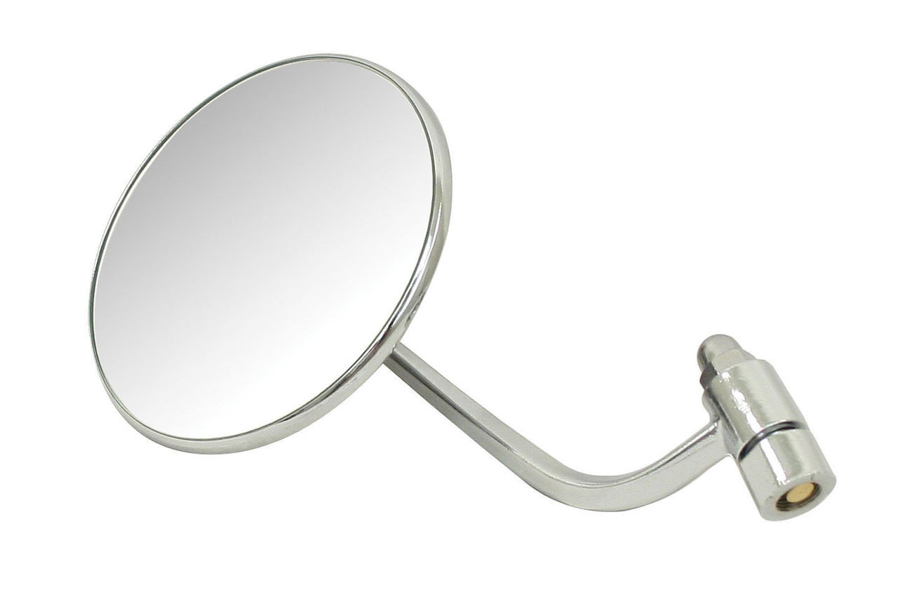 1953-1967 VW BUG BEETLE NEW CHROME STOCK REPLACEMENT MIRROR LEFT 98-2013