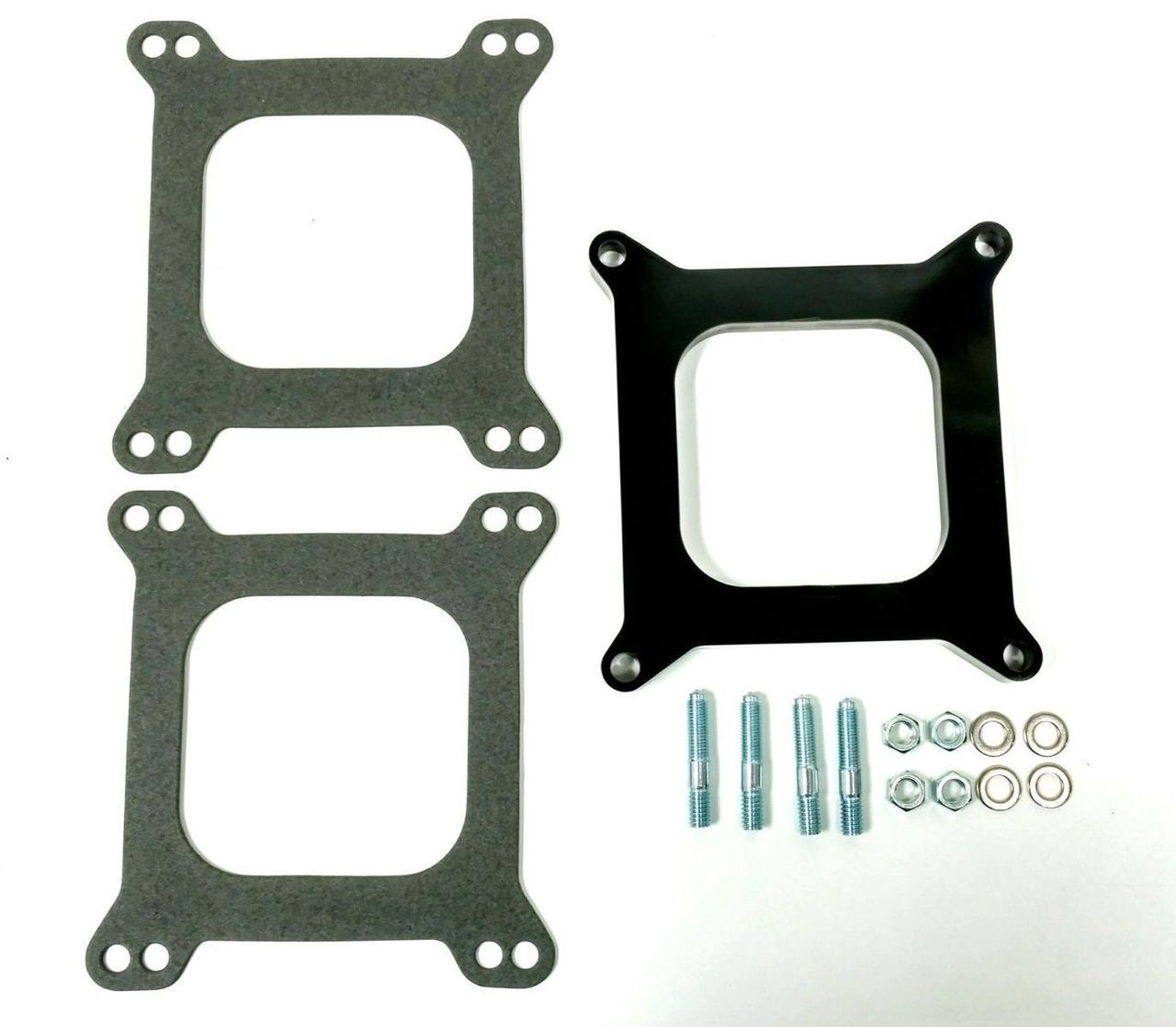 """1/2"""" Open Square Phenolic Carburetor Spacer, Holley Style"""