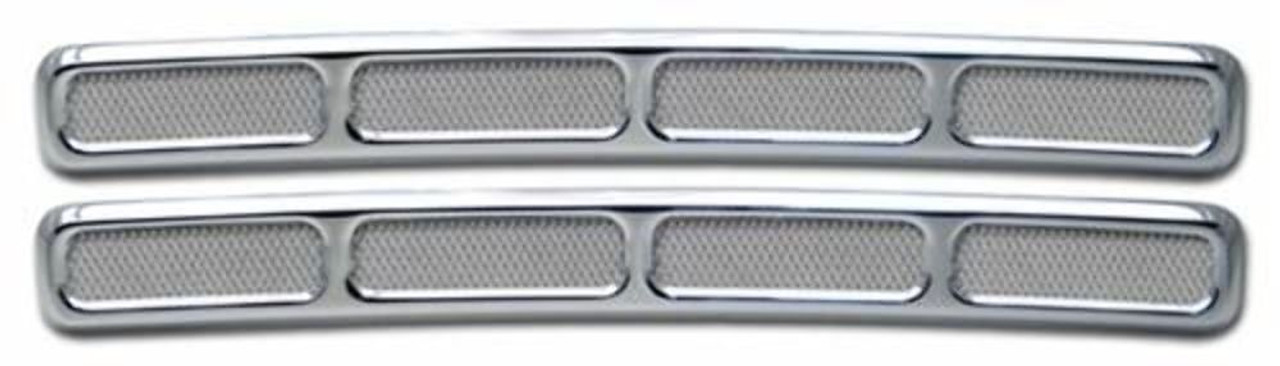2006-2010 H3 & H3T Smooth Chrome Aluminum Billet Dash Vent Covers, Pr.