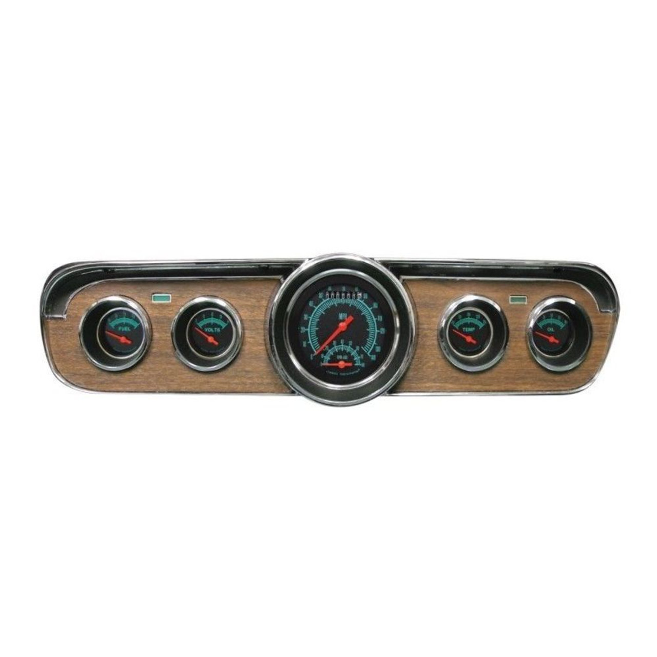 Classic Instruments Dash Gauge Package, Black, Complete Fits 1967-1968 Ford Mustang