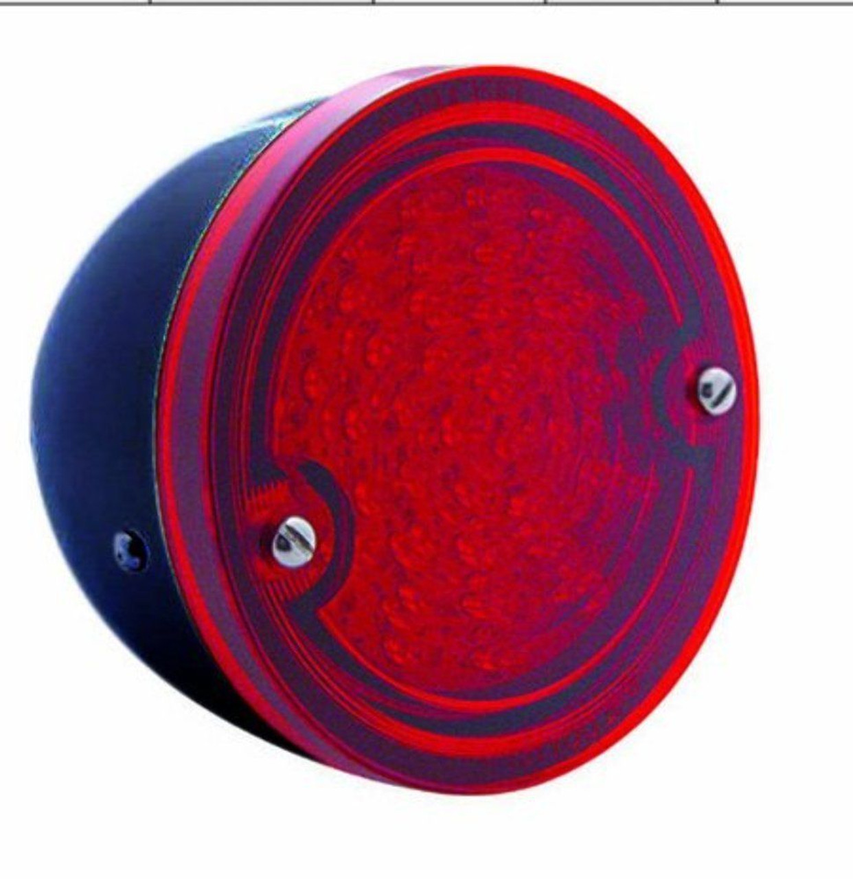 LED TAIL LIGHT WITH BLACK HOUSING & RED LENS FITS 1960-66 CHEVY STEPSIDE PICKUP