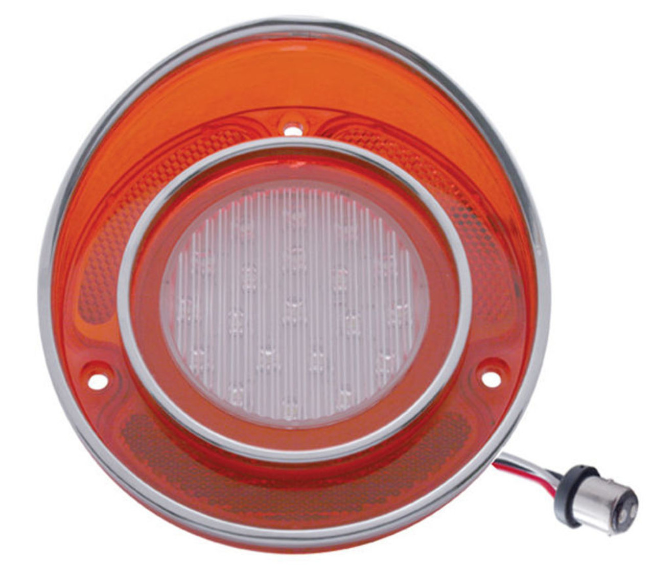 1968 - 1973 Chevy Corvette LED Back-Up Light w/ Stainless Rim, EA