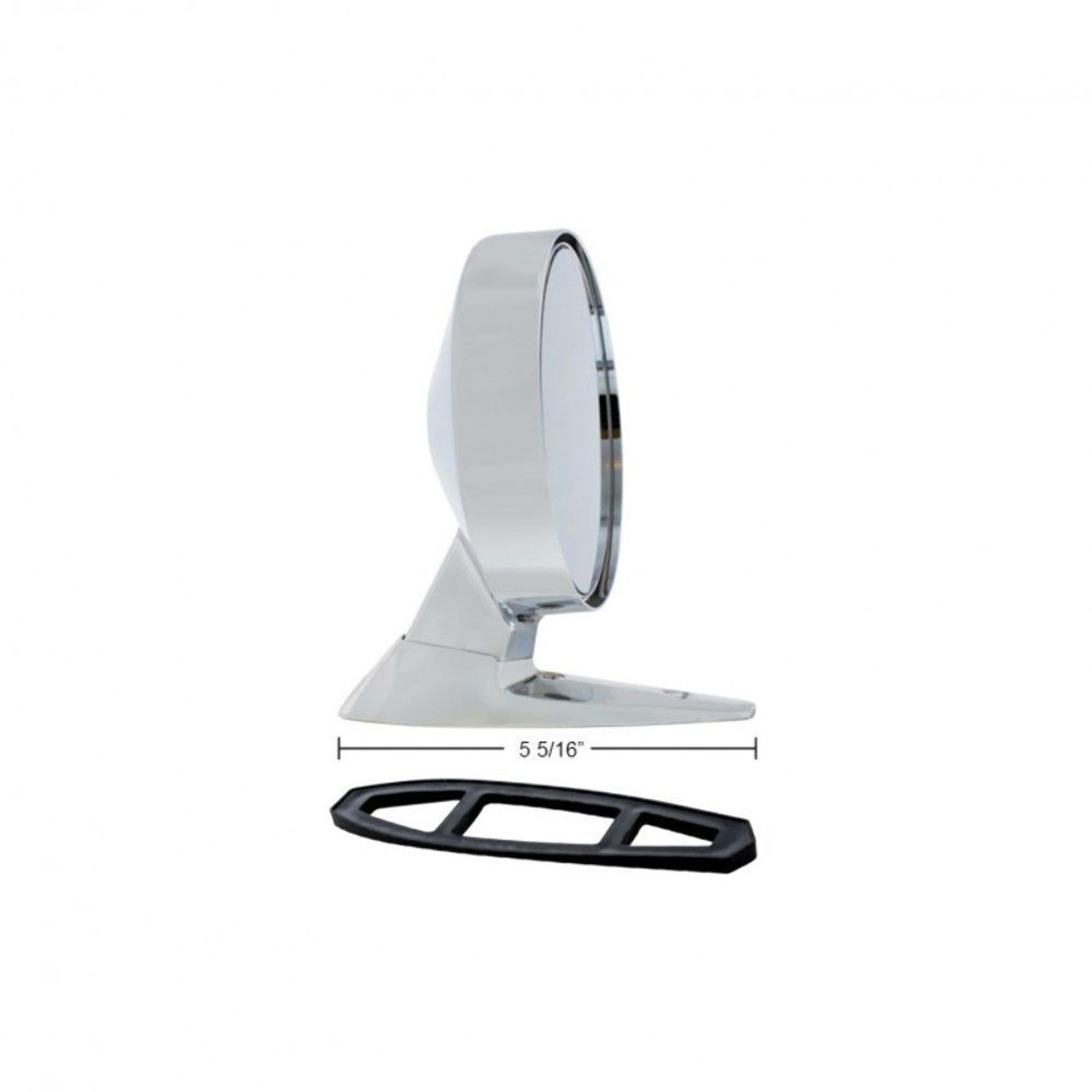 1964-1/2 1965 1966 Ford Mustang Exterior Mirror Kit w/ Remote - Left Hand