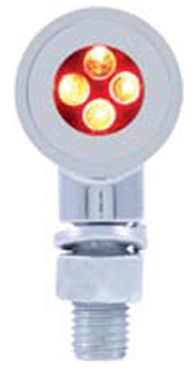 4 LED Mini Bullet Marker Light, Turn Signal, Red, Car, Truck, Motorcycle, EA