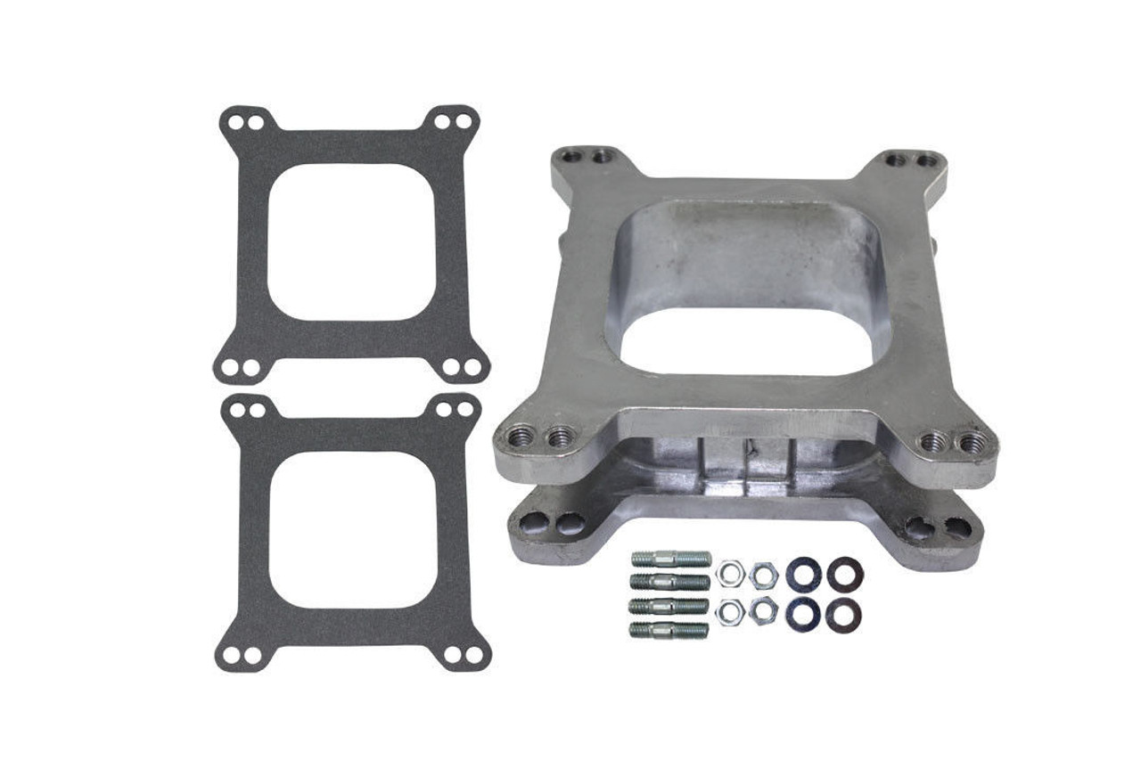 "2"" Open Square Aluminum Carburetor Spacer Fits Edelbrock Holley SBC BBC Chevy V8"