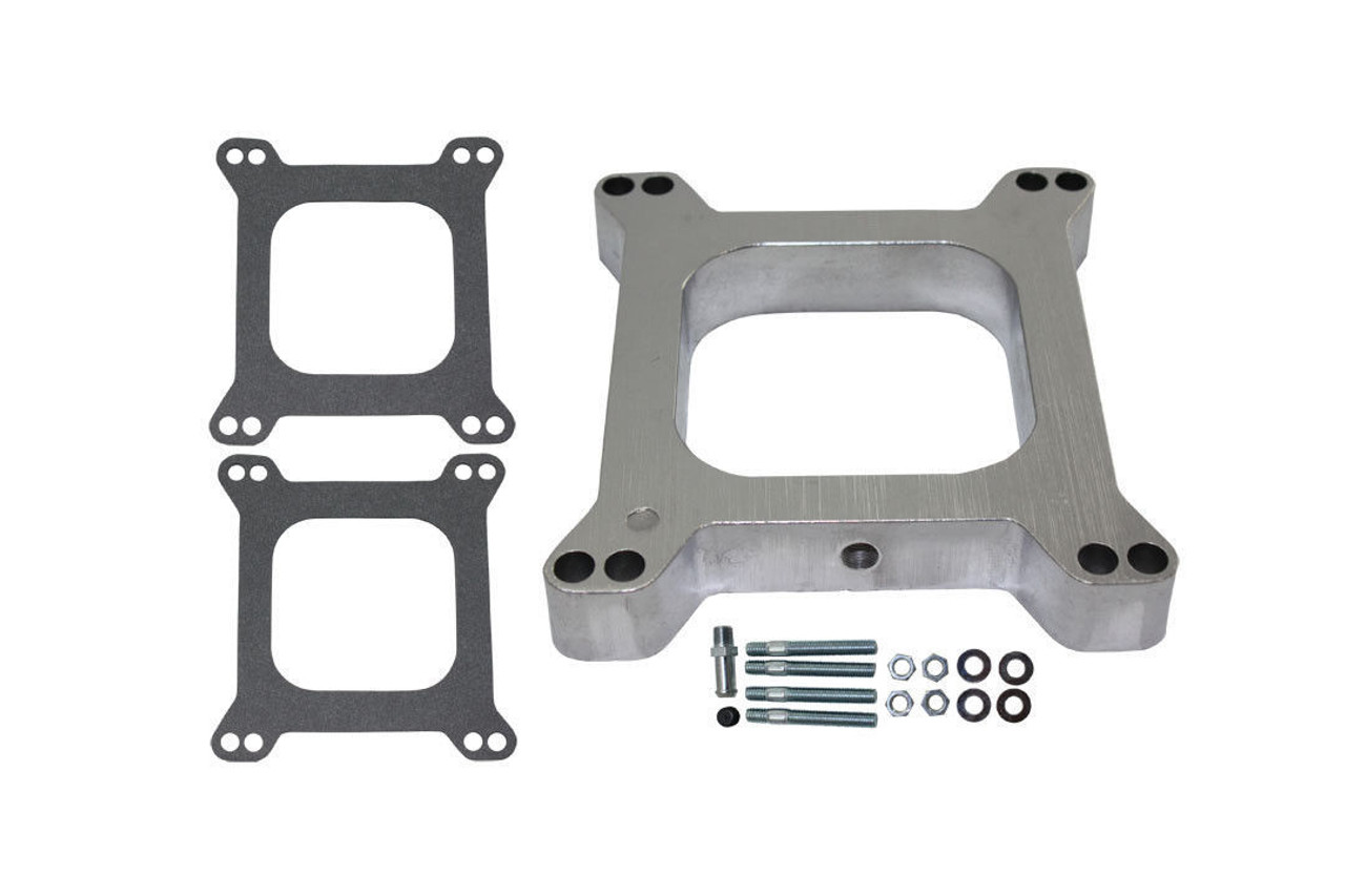 "1"" Open Square Aluminum Carburetor Spacer Fits Edelbrock Holley SBC BBC Chevy V8"
