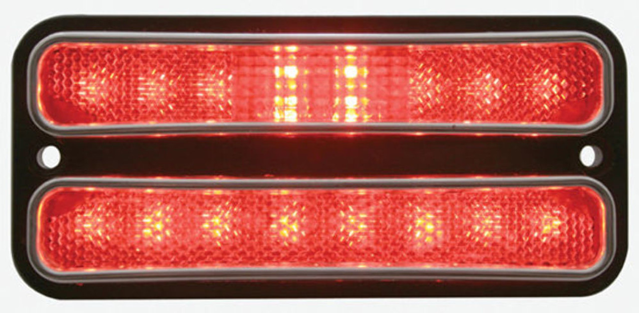 1968 - 1972 Chevy Truck LED Parking Light, Red Lens, EA