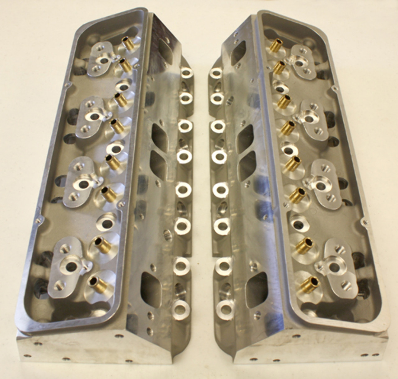 NEW SBC Small Block Chevy Aluminum Cylinder Heads ANGLE Plug