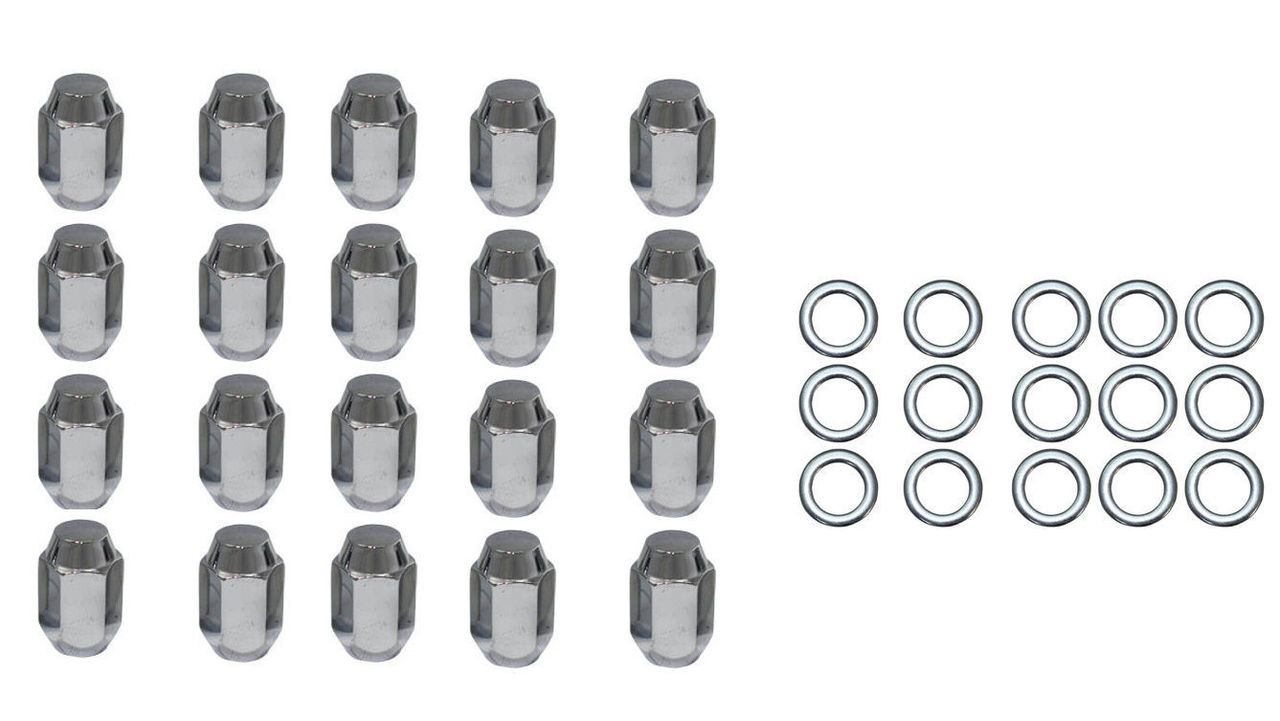 20 Pc Set Chrome Steel Mag Shank Lug Nuts 12MM x 1.5 For Toyota Lexus Wheels