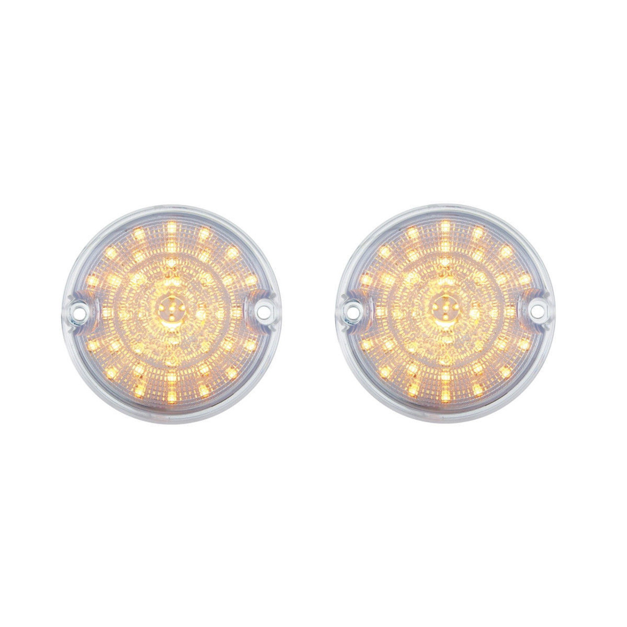 1955 1956 1957 Chevy Truck Amber LED Clear Lens Parking Lights, PAIR  - 55 56 57