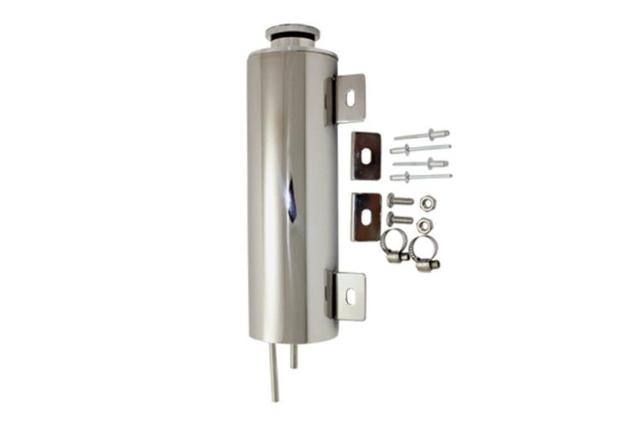 3 X 10 Polished Stainless Steel Radiator Overflow Tank Universal Fit