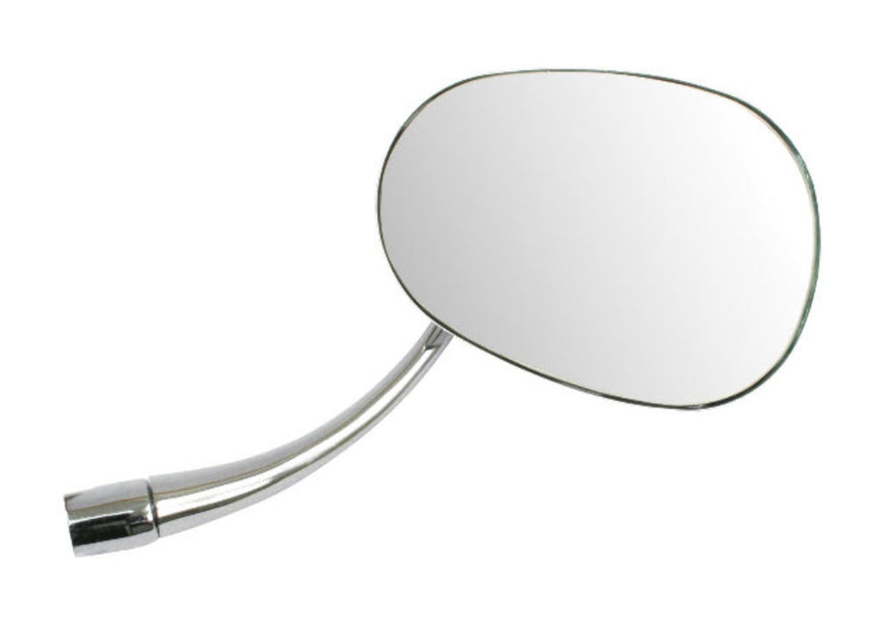 Mirror, Right/Passenger, Chrome Oval, Fits VW Type 1 Bug/Beetle 1953-1967