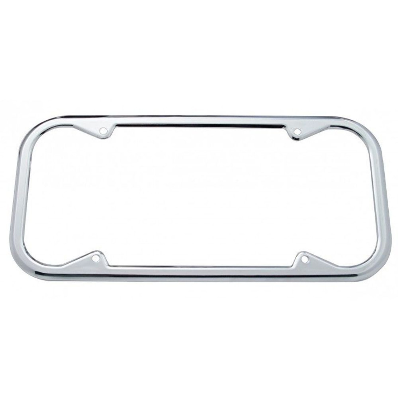 Chrome 1940-55 Round Corner California License Plate Frames