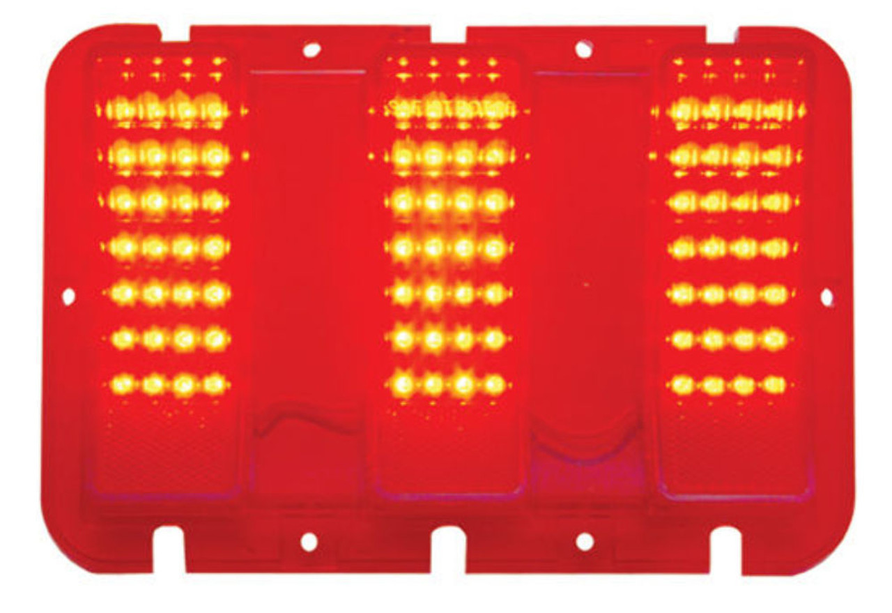 Red LED Tail Light, Each, Compatible with Ford Mustang 1967-68