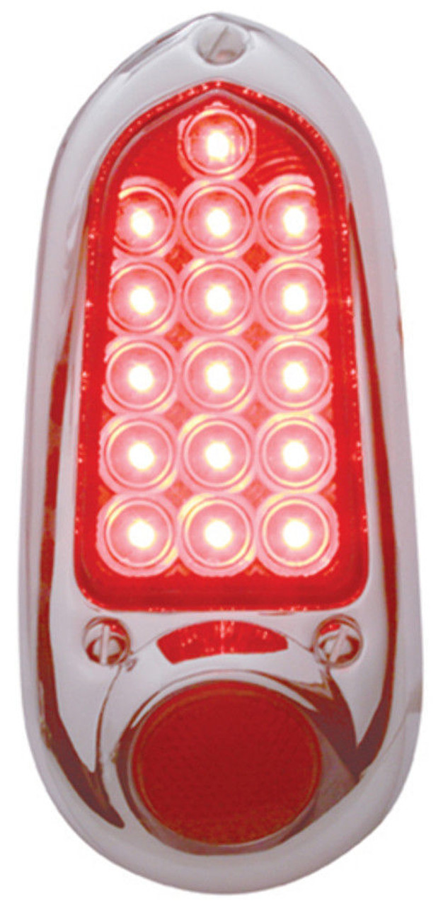 1949 - 1950 Chevy LED Tail Light Assembly, Chrome, Right