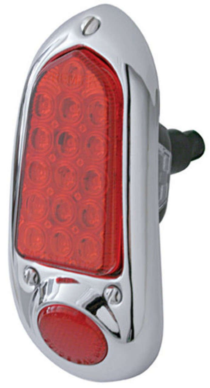 1949 - 1950 Chevy LED Tail Light Assembly, Stainless, Left