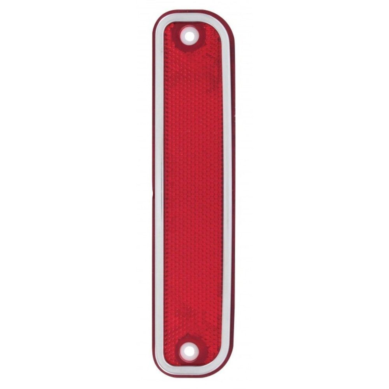 Side Marker Lights Lens W/ Stainless Steel Trim, Red, Fits Chevy Truck 1973-1980