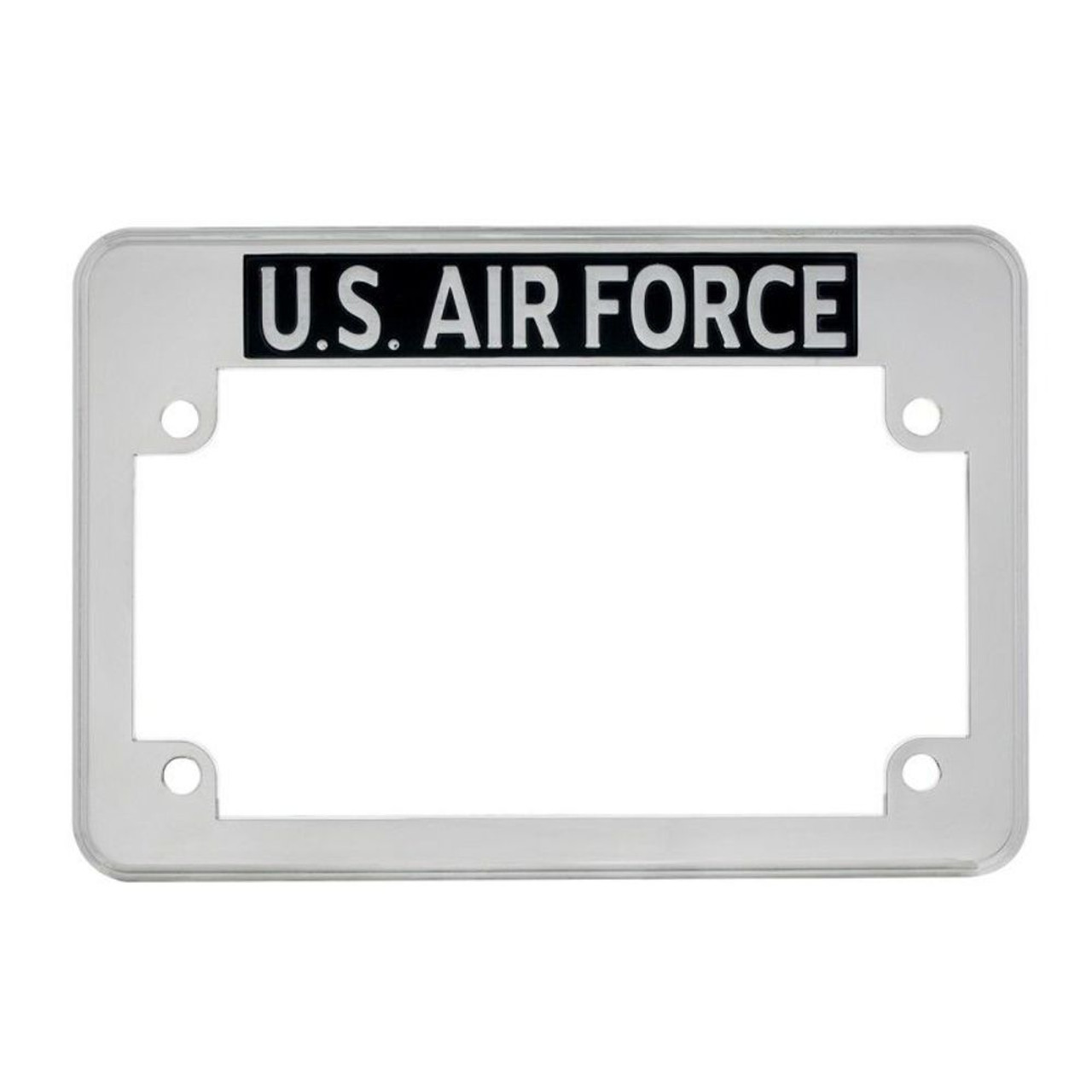 U.S. Air Force Motorcycle License Plate Frame - Fits HARLEY CHIPPER TRIUMPH MORE