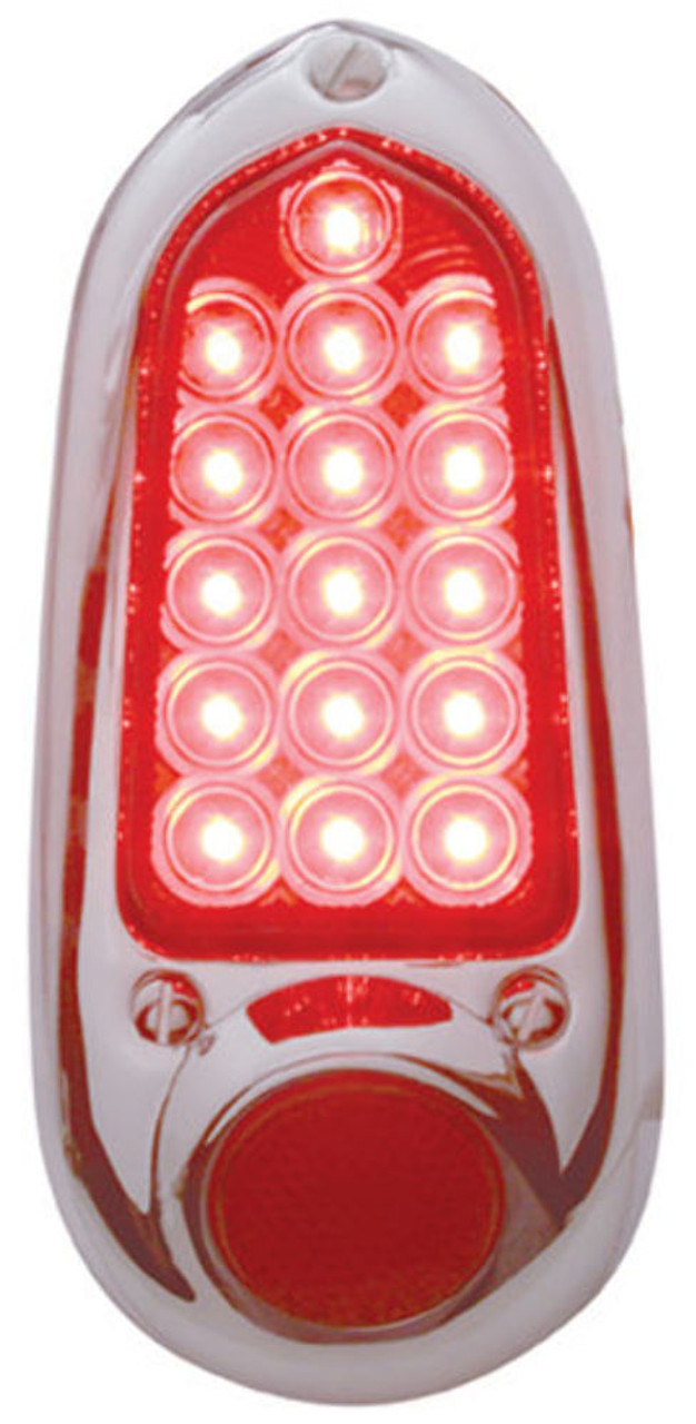 1949 - 1950 Chevy LED Tail Light Assembly, Stainless, Right