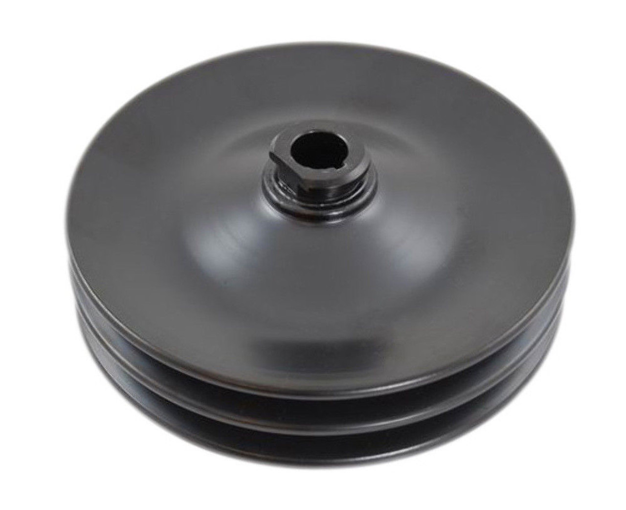 GM & Chevy 67-84 Black Steel Double Groove Power Steering Pulley