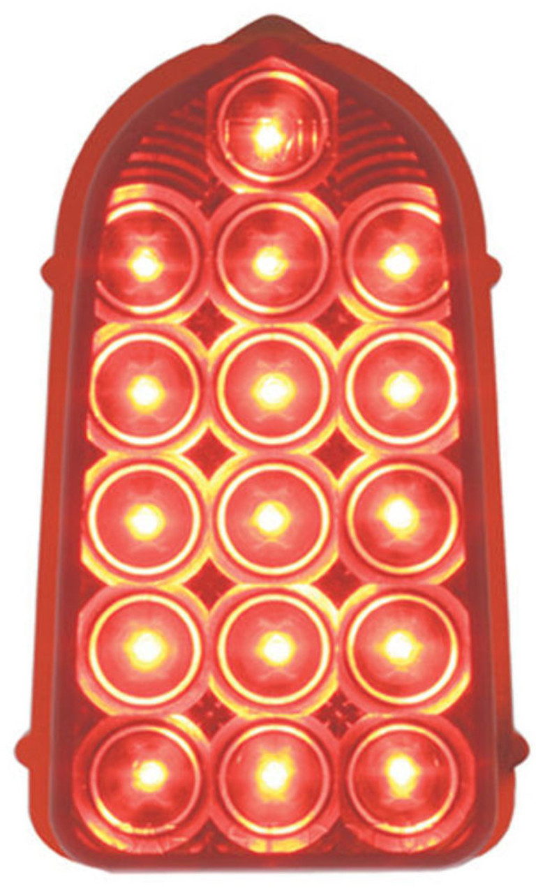 1949 - 1950 Chevy LED Tail Light, Red, EA