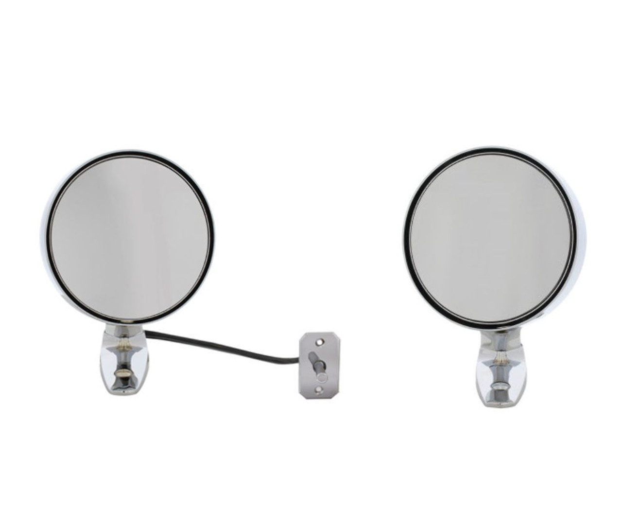 1964-1/2 1965 1966 Ford Mustang Exterior Mirror Kit w/ Remote, PAIR