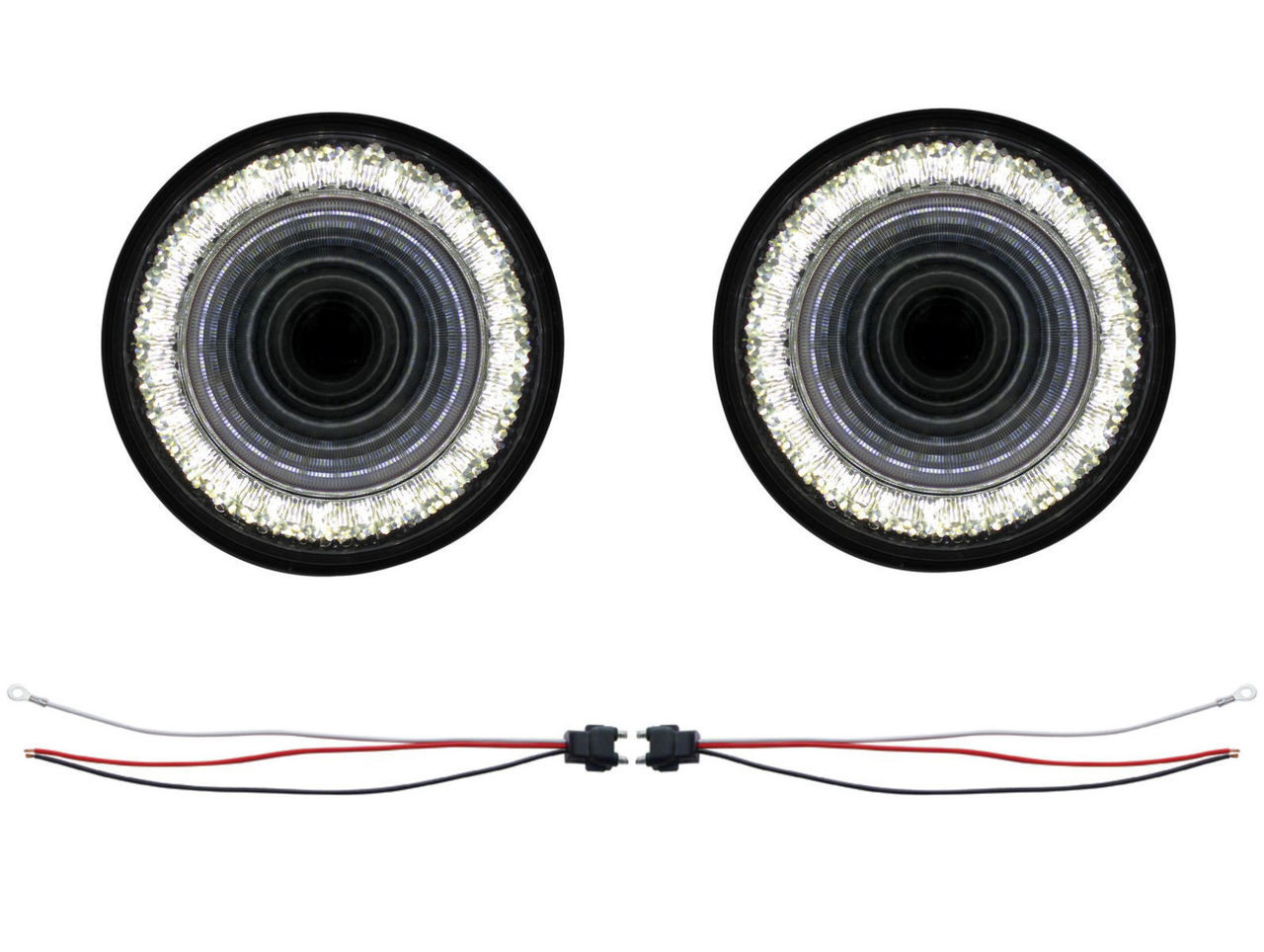 "(2) 24 Led 4"" Round ""Mirage"" Back-Up Light - Universal Truck Trailer RV Hot Rat"