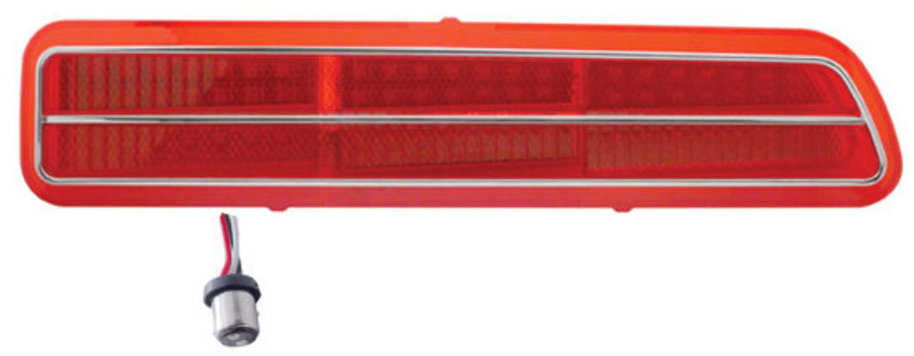 1969 Camaro LED Tail Light, Red Lens, Right, EA