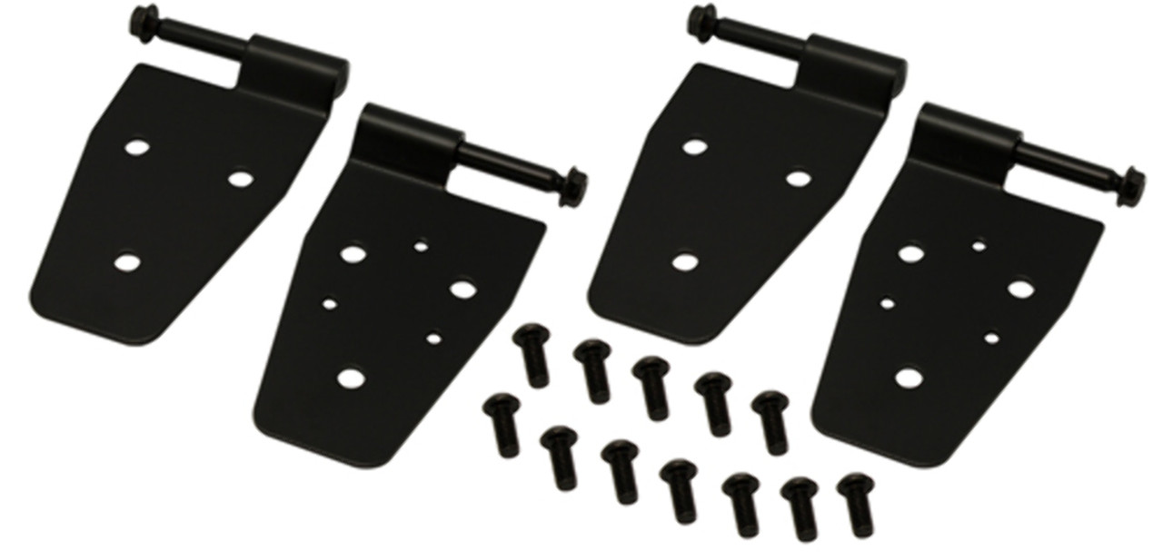 1987-2006 Jeep Wrangler Black Steel Door Hinges 4 Pc Set