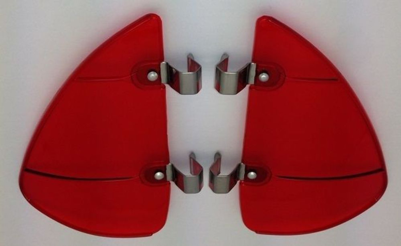 Vintage Style Red Accessory Vent Wing Air Deflector Breeze Breezies Pair