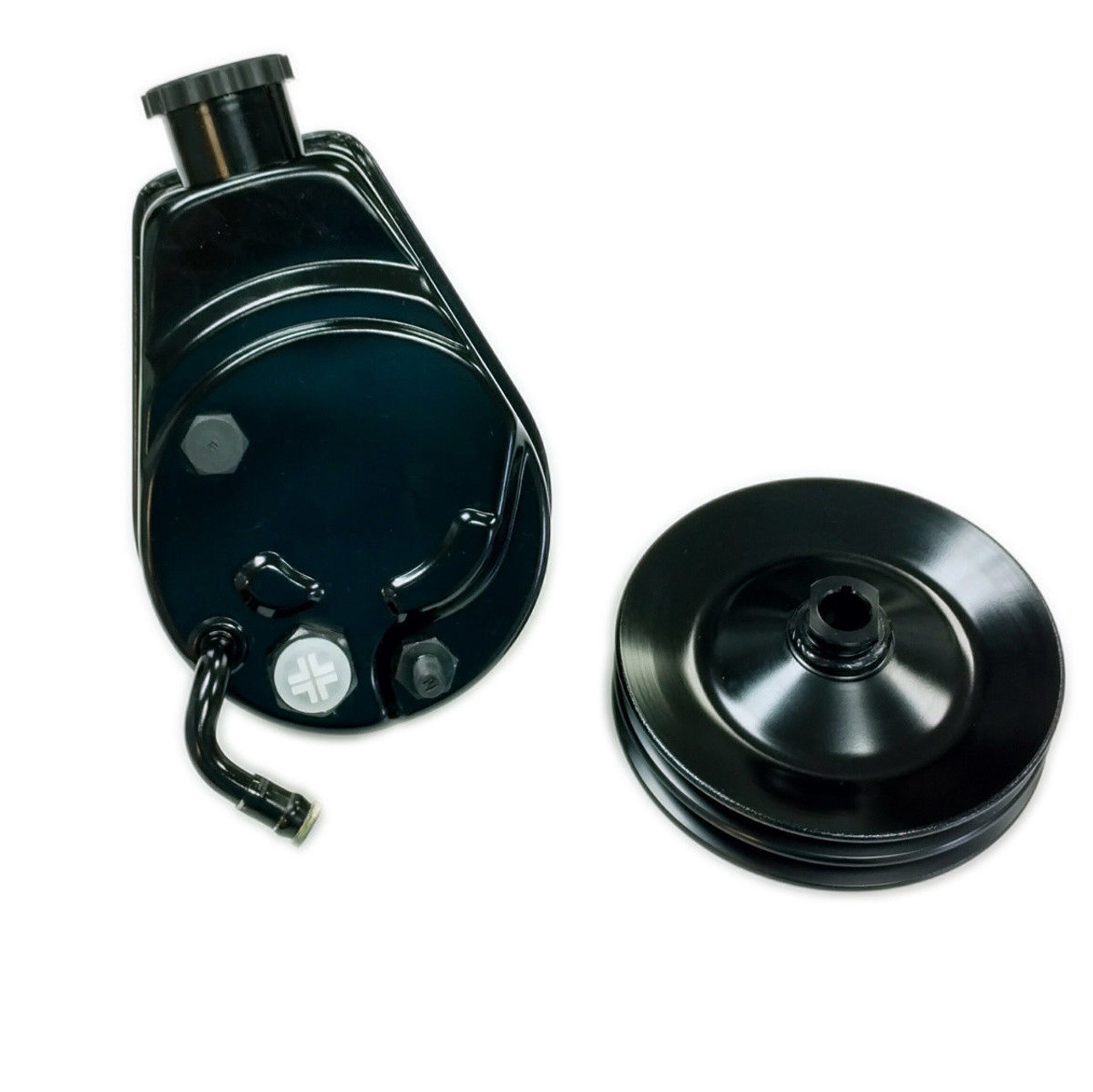 Saginaw Power Steering Pump >> Bbc Sbc Chevy Black Saginaw Style Power Steering Pump W Double