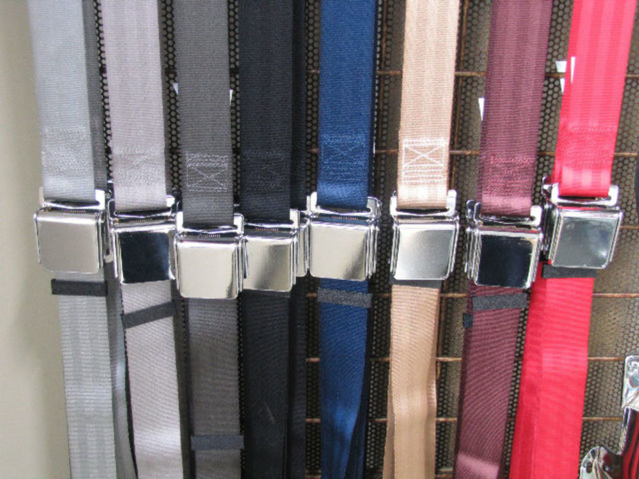 """Lap Seat Belt, 2 Point Aviation Style, Red, 60"""", Each, Fits VW Bug Beetle Air Cooled"""